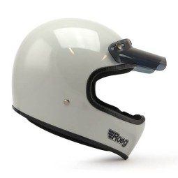 Casco Moto ROEG Moto Co Peruna Fog White, Caschi Vintage
