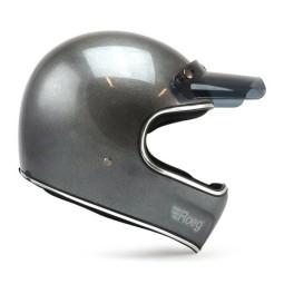 Motorcycle Helmet ROEG Moto Co Peruna Metal Black, Vintage Helmets