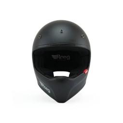 Motorcycle Helmet ROEG Moto Co Peruna Matt Black, Vintage Helmets