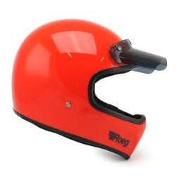 Motorcycle Helmet ROEG Moto Co Peruna Oompa Orange ,Vintage Helmets