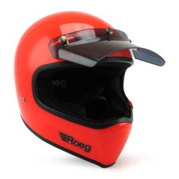 Casco Moto ROEG Moto Co Peruna Oompa Orange, Caschi Vintage