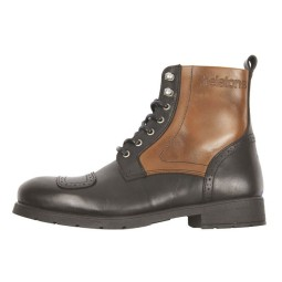 Scarpa Moto HELSTONS Travel Tan Nero, Calzature Moto Urban