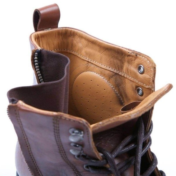 Zapatos de Moto HELSTONS City Marrón