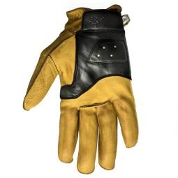 Guanti Moto Pelle HELSTONS Hiro Gold Noir, Guanti Moto Pelle