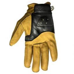 Motorrad-Handschuhe HELSTONS Hiro Gold Noir ,Motorrad Lederhandschuhe