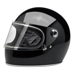 Casco Moto Vintage BILTWELL Gringo S Gloss Black , Caschi Vintage