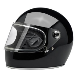 Casco Vintage Moto BILTWELL Gringo S Gloss Black ,Cascos Vintage
