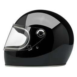 Motorrad Helm Vintage BILTWELL Gringo S Gloss Black ,Vintage Helme