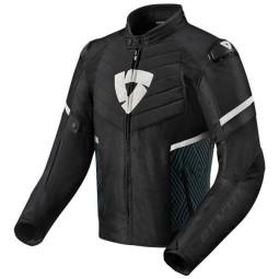 Giubbotto Moto REVIT Arc H2O Nero Bianco, Giubbotti e Giacche Tessuto Moto