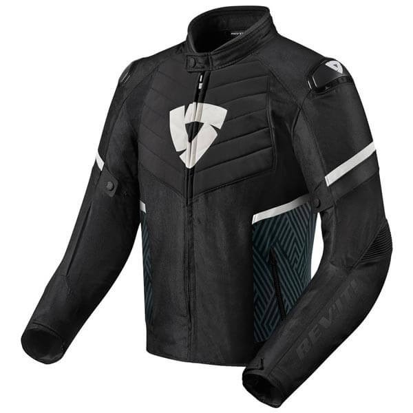 Chaqueta Moto REVIT Arc H2O Negro Blanco