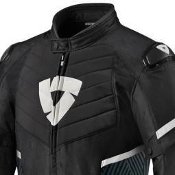 Motorrad Jacke REVIT Arc H2O Schwarz Weiss
