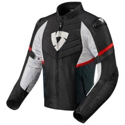 Motorcycle Jacket REVIT Arc H2O Black Red ,Motorcycle Textile Jackets