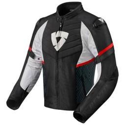 Motorrad Jacke REVIT Arc H2O Schwarz Rot