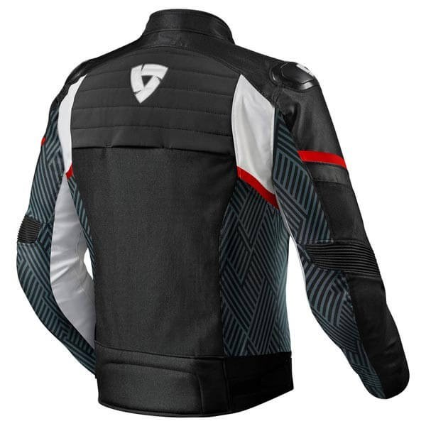 Chaqueta Moto REVIT Arc H2O Negro Rojo