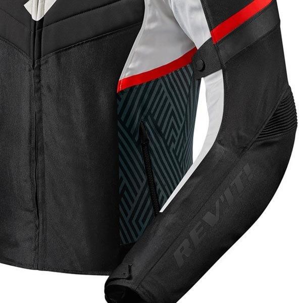 Blouson Moto REVIT Arc H2O Noir Rouge