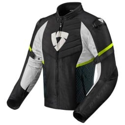 Motorcycle Jacket REVIT Arc H2O Black Yellow Fluo