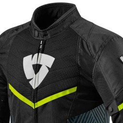 Chaqueta Moto REVIT Arc Air Negro Amarillo Fluo