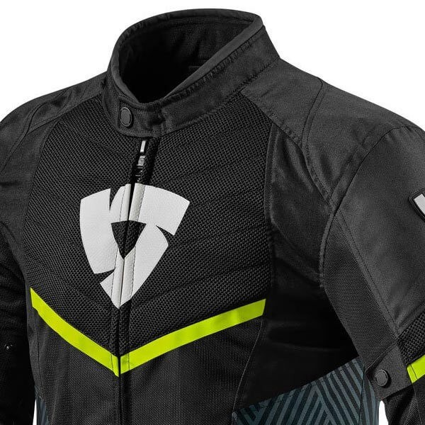 Motorcycle Jacket REVIT Arc Air Black Yellow Fluo