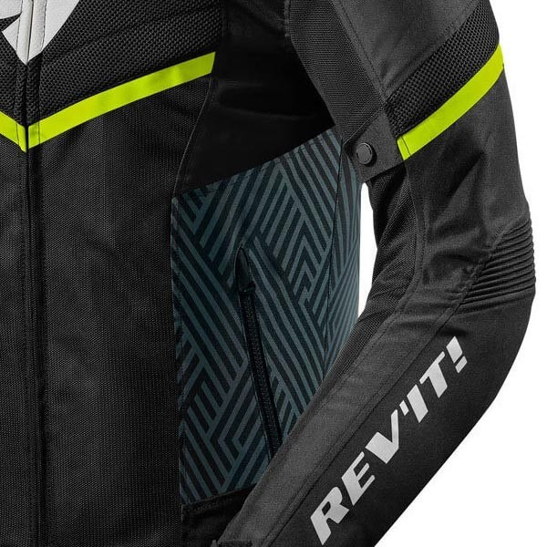 Chaqueta Moto REVIT Arc Air Negro Amarillo Fluo