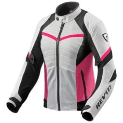 Motorcycle Jacket REVIT Arc Air Woman White Fucsia ,Motorcycle Textile Jackets