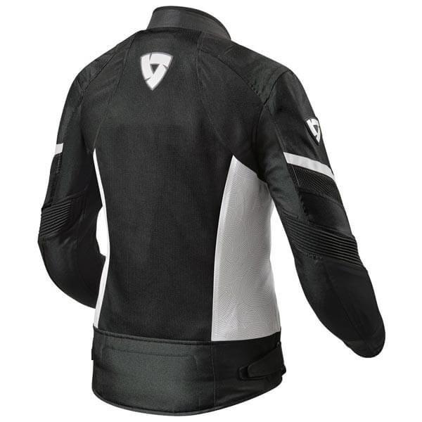 Chaqueta Moto REVIT Arc Air Mujer Negro Blanco