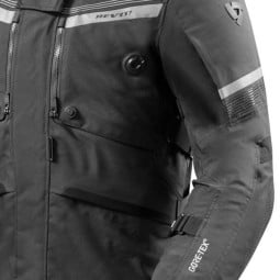 Motorrad-Stoffjacke REVIT Poseidon 2 GTX Schwarz