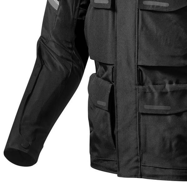 Motorcycle Fabric Jacket REVIT Outback 3 Black