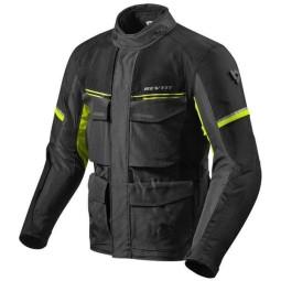 Veste Moto Tissu REVIT Outback 3 Noir Jaune