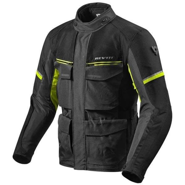 Motorcycle Fabric Jacket REVIT Outback 3 Black Yellow ,Motorcycle Textile Jackets