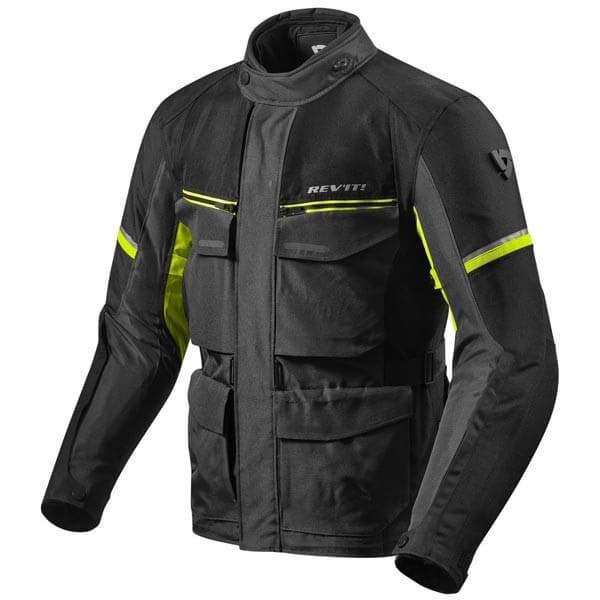 Motorrad-Stoffjacke REVIT Outback 3 Schwarz Gelb