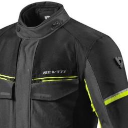Giacca Moto Tessuto REVIT Outback 3 Nero Giallo Fluo, Giubbotti e Giacche Tessuto Moto