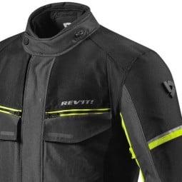 Motorcycle Fabric Jacket REVIT Outback 3 Black Yellow