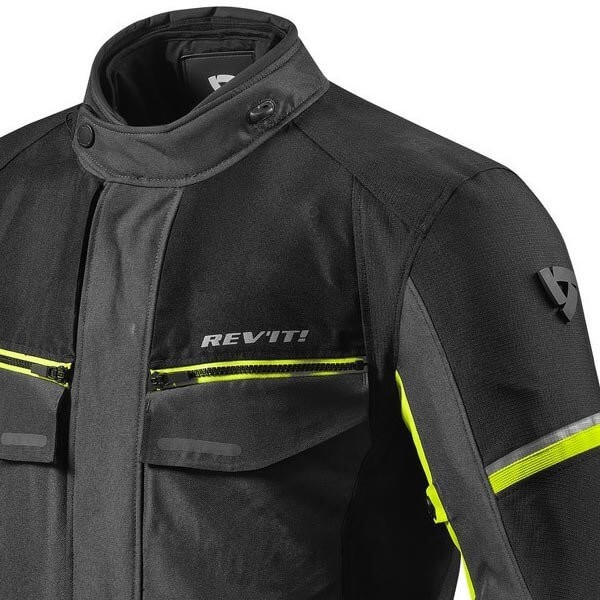 Motorcycle Fabric Jacket REVIT Outback 3 Black Yellow