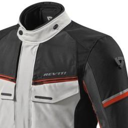 Motorrad-Stoffjacke REVIT Outback 3 Silber Rot
