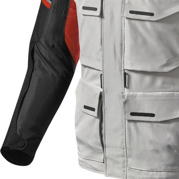 Motorcycle Fabric Jacket REVIT Outback 3 Silver Red
