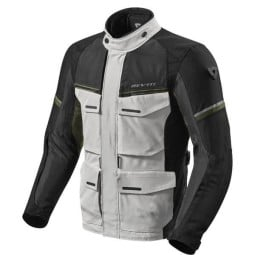 Motorcycle Fabric Jacket REVIT Outback 3 Silver Green ,Motorcycle Textile Jackets