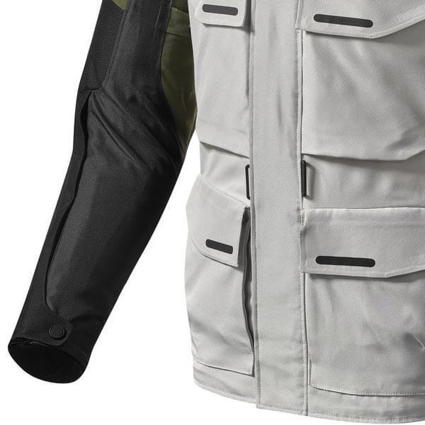Veste Moto Tissu REVIT Outback 3 Argent Vert