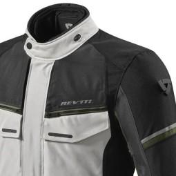 Giacca Moto Tessuto REVIT Outback 3 Argento Verde, Giubbotti e Giacche Tessuto Moto