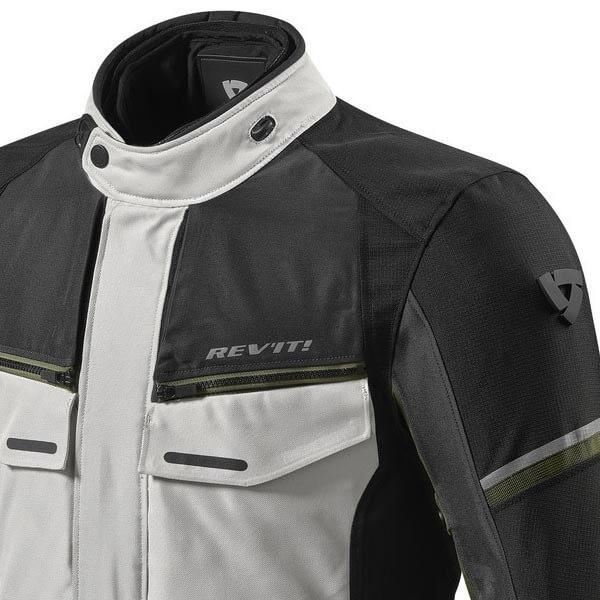 Motorrad-Stoffjacke REVIT Outback 3 Silber Grun