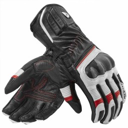 Motorcycle Leather Gloves REVIT Xena 2 Woman Black White Red ,Motorcycle Leather Gloves
