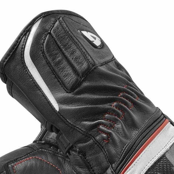 Motorcycle Leather Gloves REVIT Xena 2 Woman Black White Red
