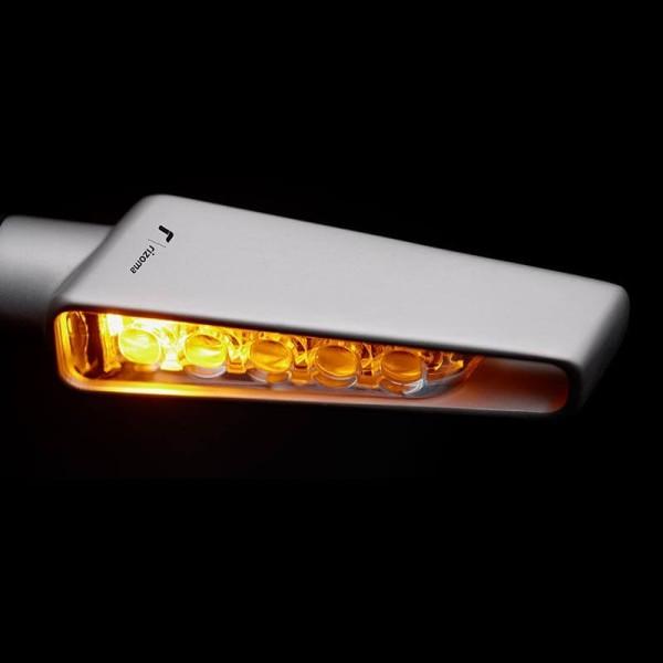 Rizoma Motorcyle Indicator Light VISION Silver