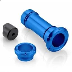 Rizoma Kit enjoliveur axe roue arrière Bleu ,Bouchons et Réservoirs Liquides