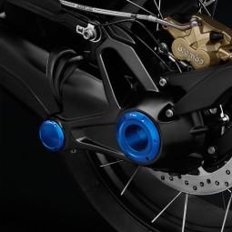 Rizoma Kit enjoliveur axe roue arrière Bleu
