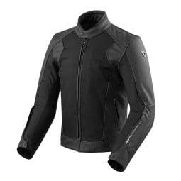 Motorcycle Leather Jacket REVIT Ignition 3 Black ,Leather Motorcycle Jackets