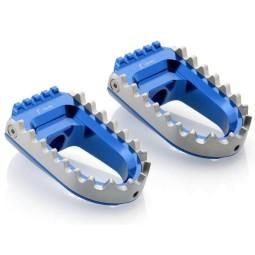 Rizoma Repose-pieds RALLY Bleu ,Repose-pieds Moto