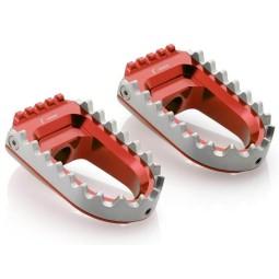Rizoma Repose-pieds RALLY Rouge ,Repose-pieds Moto