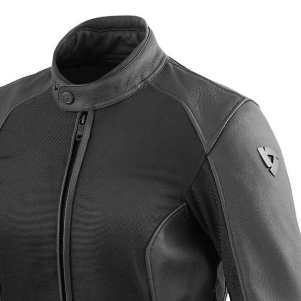 Chaqueta Cuero Moto REVIT Ignition 3 Mujer Negro