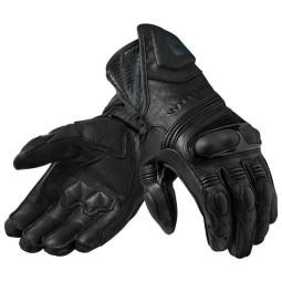 Motorcycle Leather Gloves REVIT Metis Black, Racing gloves