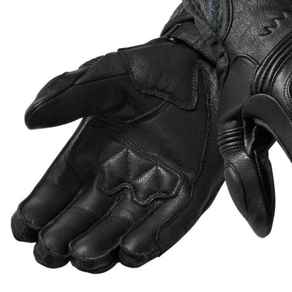 Motorcycle Leather Gloves REVIT Metis Black